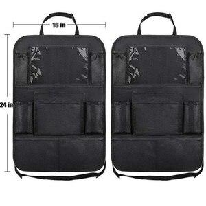 Image 5 - 2021 comodo seggiolino auto Organizer posteriore custodia multi tasca custodia custodia per auto custodia per Tablet supporto per Tablet organizzatore