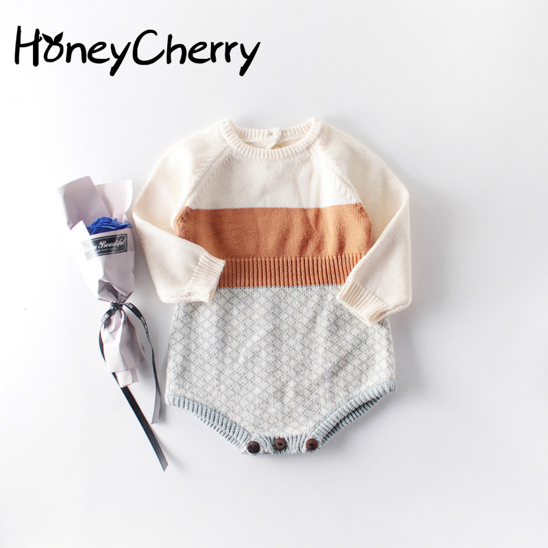 2009 New Baby Girl Romper Retro Colour Knitted Clothes Bottom-wrapped Horsewear And Crawling Clothes