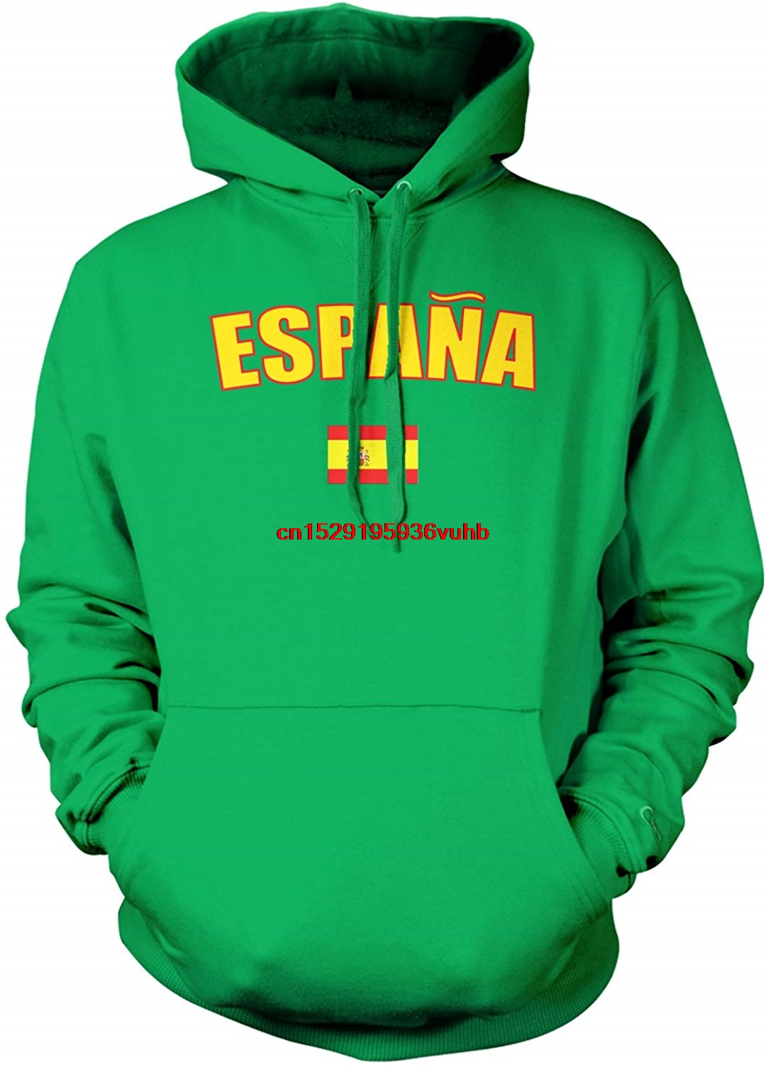 Autumn And Winter Hohoodies Men Funny Printed Hoodie Sweatshirt Men's Espana Country Flag, Spain Hooded Sweatshirt