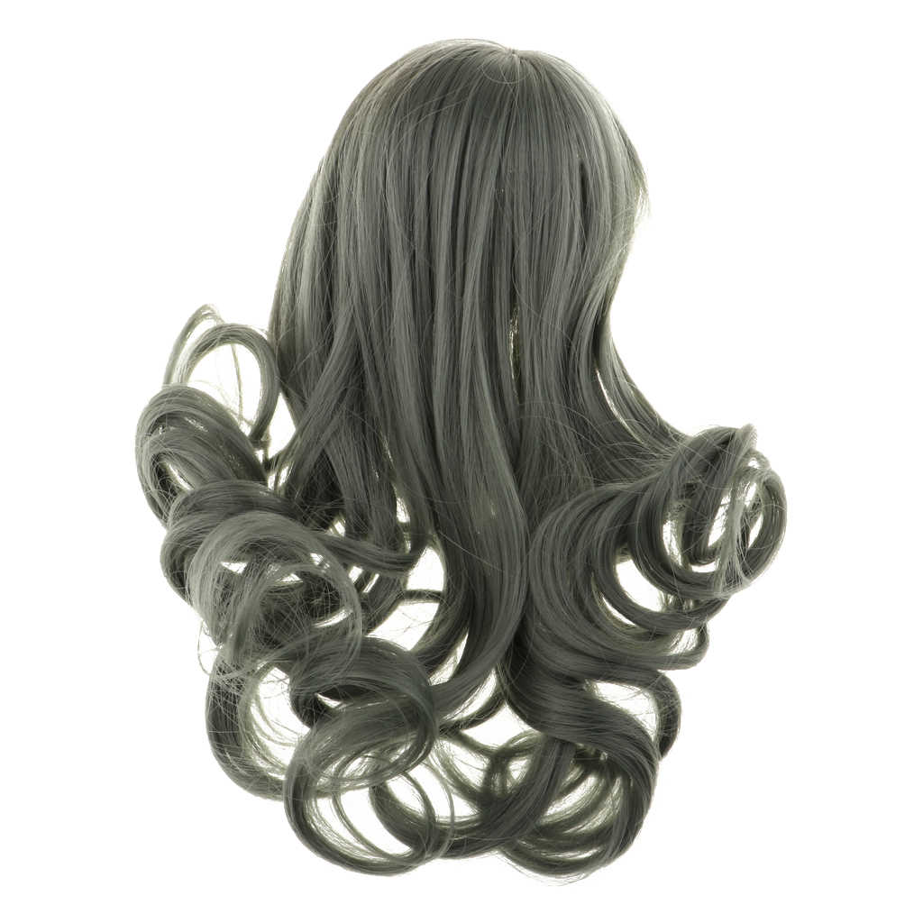 Long Curly Hair Wig Hairpiece For 1//3Scale BJD Lolita Doll SD DIY Dark Green