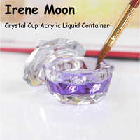 1pcs Acrylic Liquid Container Acrylic Nails Decoration Nail Art Tools Nails Polish Remover Brush Cleaser Glass Container
