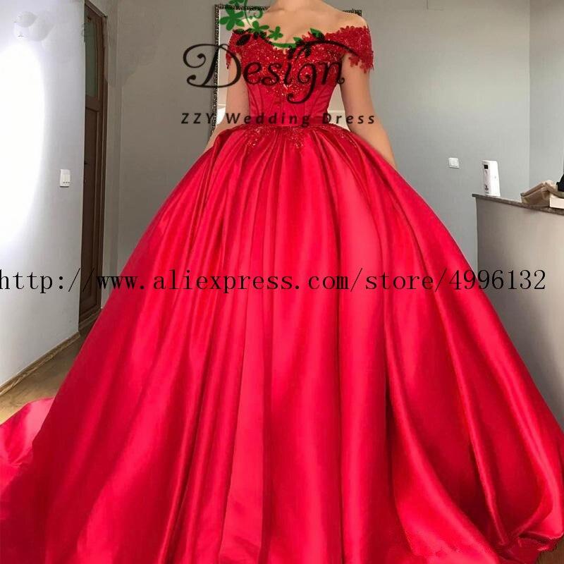 Ручная работа атласные цветы аппликации бисером красные винтажные пышные платья Сладкие 16 с открытыми плечами пышные бальные платья
