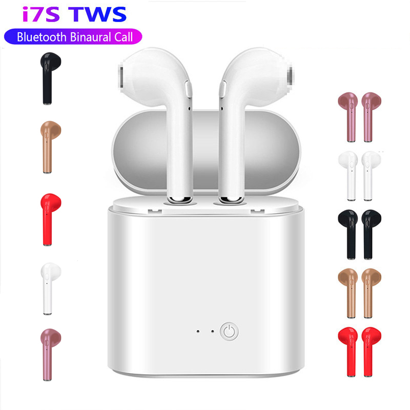 RGLM I7s TWS Mini Coloured Drawing Bluetooth Wireless Earphones Earbuds With Charging Box Sports Headsets For All Smart Mobile