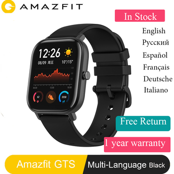 Amazfit Waterproof Smartwatch Battery Global-Version 5ATM GPS Music-Control Silicon-Strap
