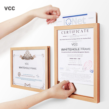 High Quality Natural Wooden Poster Frame Picture Frame Photo A4 A3 A5 Wood Pictures Frame For Wall Wood Color Certificate Frame a4 size wood photo frame solid wood photo frame stand table display photo quadro decoration tv wall frame best gift 2019