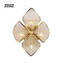 Wandlamp Postmodern Crystal LED Wall Lamp Gold Luxury Corridor Aisle Sconces Bedroom Decorative Light Fixtures