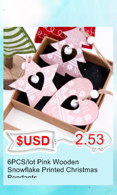 3PCS/lot Creative White Deer/Snowflake Wooden Pendants Christmas Tree Ornaments Decorations Xmas Wood Crafts Home Party Supplies 14