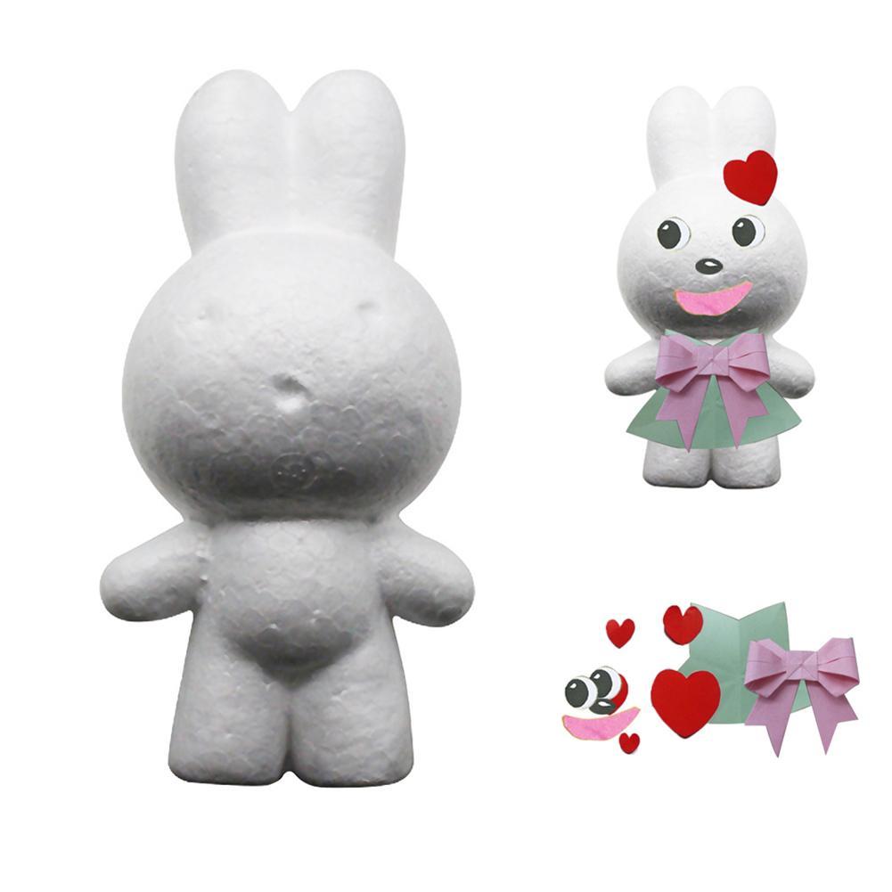 Handmade Set Modeling Rabbit Polystyrene Foam DIY Children Craft Toy Decor Gift