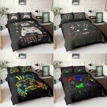 Bedding-Set Duvet-Cover Gamepad Black Comforter Queen-Size Housse-De-Couette Creative