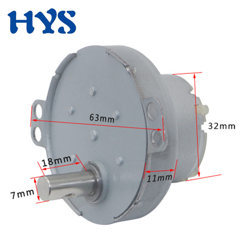 HYS <font><b>DC</b></font> <font><b>Motor</b></font> 3V <font><b>5V</b></font> 6V 12V 24V Gear Electric <font><b>Motors</b></font> 12 V Volt Speed Reducer 2/3/4/5/9/8/25/100rpm Low Noise Gearmotor JS-50T image