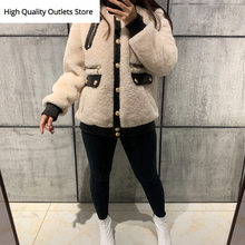 Ladies Suede Jacket Women Lamb Suede Leather Jacket Shearling Jacket(China)