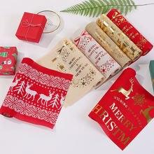 Длинная скатерть в рождественском стиле с красными снежинками