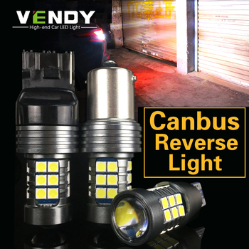 1pcs Car LED Reverse Light Bulbs Canbus W16W P21W BA15S W21W For bmw e46 e90 e60 e39 e36 f10 f11 f30 f20 e87 x5 e70 e91 e34 g30 image