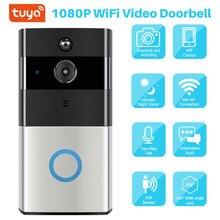 Умный видео дверной звонок Tuya 1080P WiFi видеодомофон SmartLife APP дистанционное управление беспроводной дверной звонок камера домашний монитор безопасности