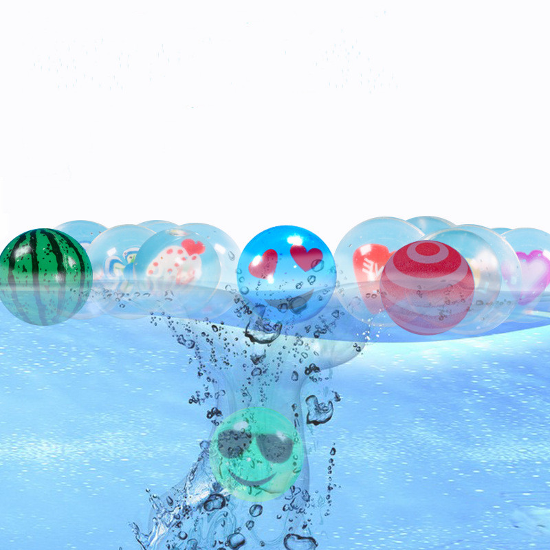 10pcs/lot Funny Toy Floating Balls Mixed Bouncing Ball Solid Bouncy Child Elastic Rubber Ball Of Pinball Bouncy Toys