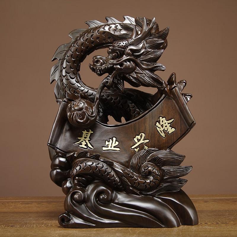 Art Dragon Home Decor Wood Carving Sculpture