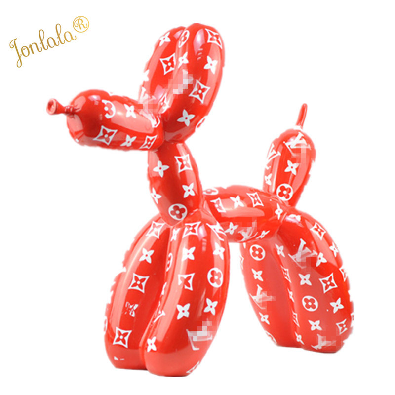 Color Customize Pattern Design Balloon Dog Special Statue Modern Sculpture Home Decoration Bulldog Toy Resin Art Ornament