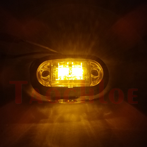 Image 5 - 10Pcs 12V 24V 사이드 마커 라이트 자동차 앞 후면 범퍼 장식 램프 트레일러 트럭 보트 크롬 클리어런스 라이트