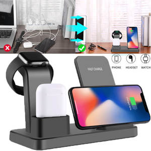 Dock-Stand Charging-Charger Apple Watch iPhone Wireless-Station for Airpods 3-In-1 3-In-1
