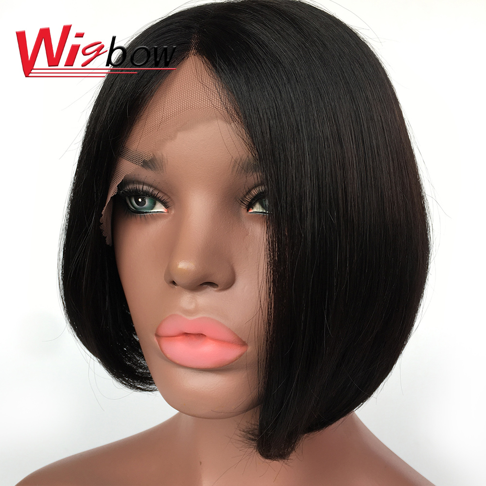 Wigbow Bob Lace Front Wigs For Black Women Brazilian Short Lace Front Human Hair Wigs Fashion Cheap Wholesale Wigs For Women