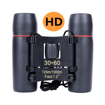 Zoom Telescope 30x60 Folding Binoculars with Low Light Night Vision for Outdoor Bird Watching Travelling Hunting Camping zoom telescope 40x22 folding binoculars with low light night vision for outdoor bird watching travelling hunting camping 2000m a