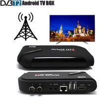 Dvb T2 Android Tv Box Tv Tuner 4K Smart Tv Box Dual Mode Dvb-t2 Ontvanger Set Top Box Cpu amlogic S905 Quad Core Os Android 5.1