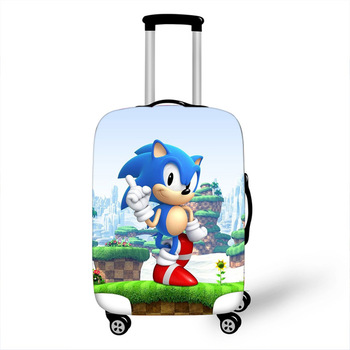 18-32 Inch Cartoon Bros Sonic Elastic Luggage Protective Cover Trolley Suitcase Dust Bag Case Cartoon Travel Accessories