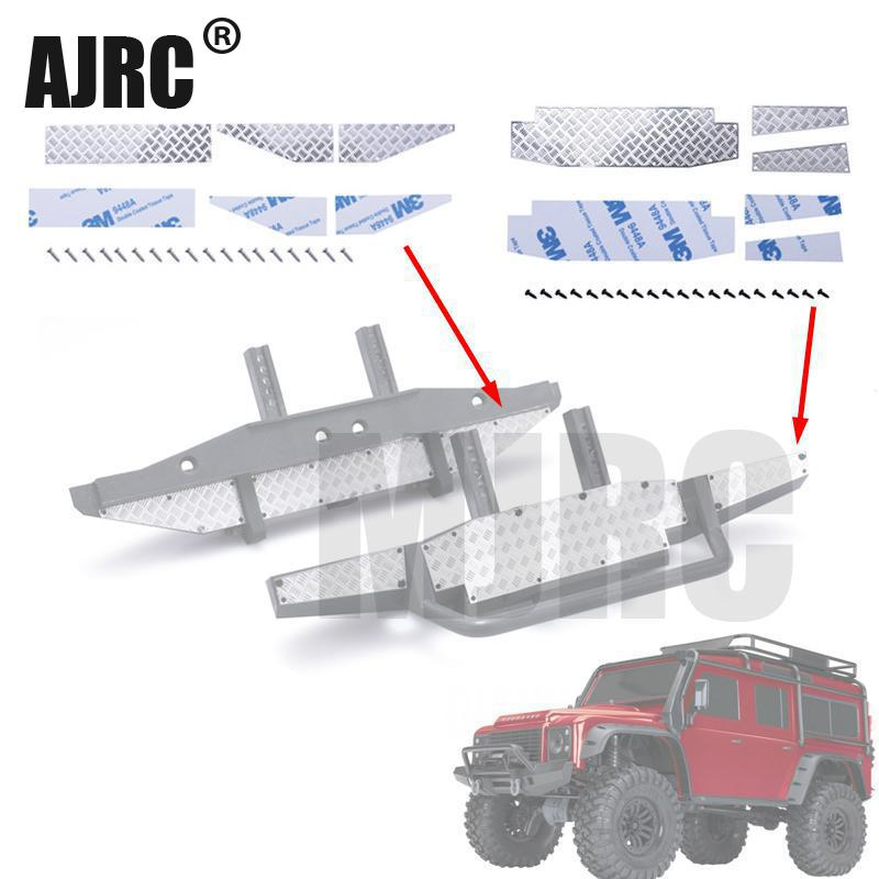 1/10 シミュレーションクライミングカートラクサスディフェンダーTRX-4 フロントバンパー反射ストリップTRX4 リアバンパー以外の装飾ピース