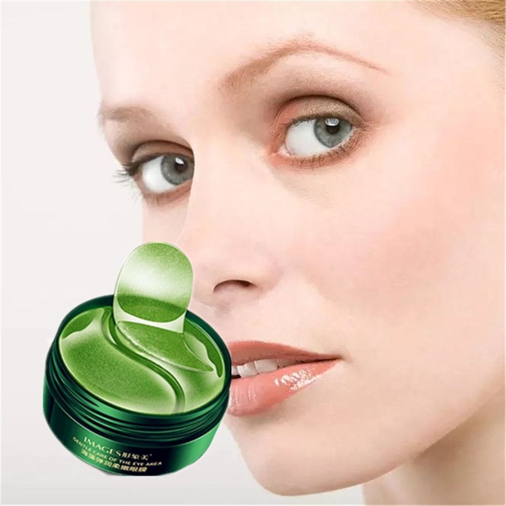 Natural Green Tea Essence Remove Eye Bags Wrinkles Eye Masks Moisturizing Anti Aging Seaweed Tighten Eye Pouch Patches 60Pcs