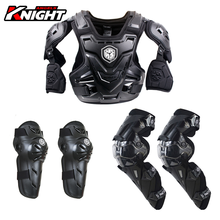 SCOYCO Motorcycle Armor CE Motocross Chest Back Protector Moto Protection Riding Gear 3-piece Armor+knee Pads+elbow Pads