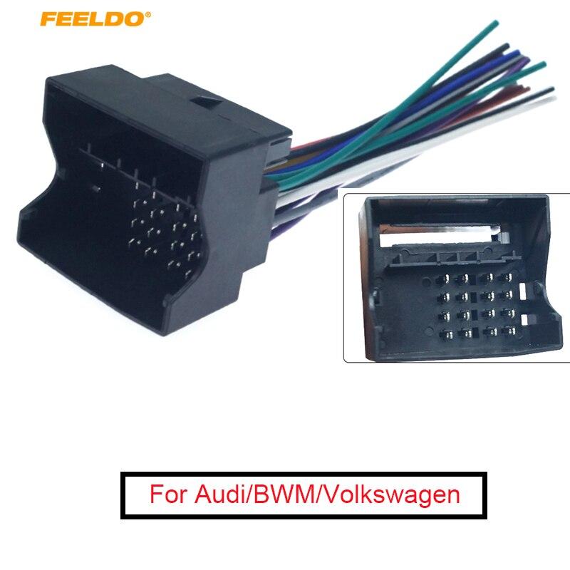 US $2.14 22% OFF|FEELDO Car CD Player Radio Audio Stereo Wiring Harness on chevy trailblazer stereo harness adapters, car stereo adapters, car audio harness adapters, radio harness adapters, stereo wiring harness kit, stereo wiring harness color codes,
