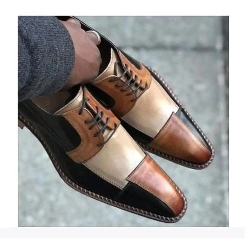 Men PU Leather Shoes Low Heel Casual Shoes Dress Shoes Brogue Shoes Spring Ankle Boots Vintage Classic Male Casual NE039
