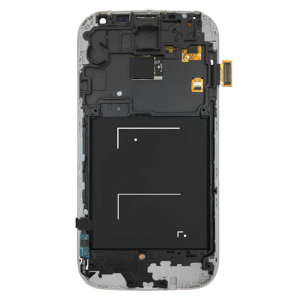 FIX2SAILING شاشة LCD عالية الجودة عرض 100% اختبار شاشة تعمل باللمس الجمعية مع الإطار لسامسونج غالاكسي S4 I9500 I9505