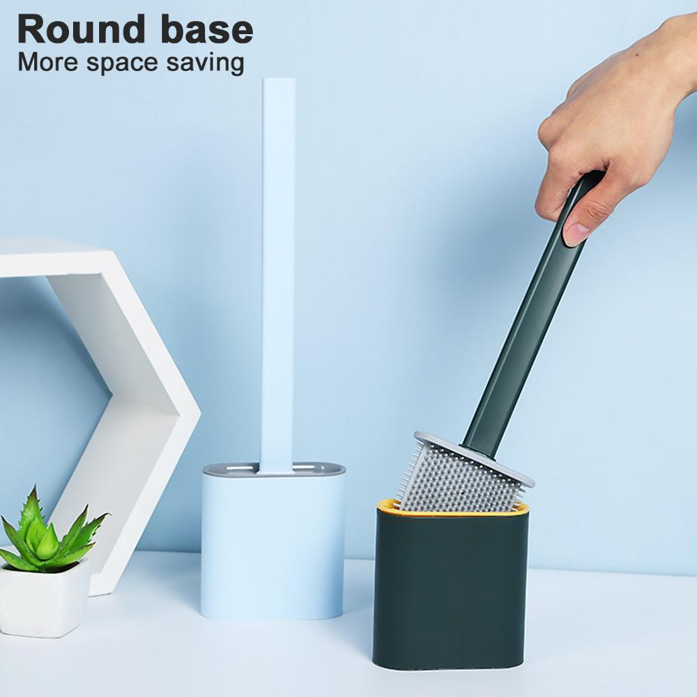 Настенный набор кистей для унитаза, бесшовная длинная ручка, мягкая щетка TPR, щетка для унитаза и держатель с крышкой для ванной комнаты|Чистящие щетки| | АлиЭкспресс