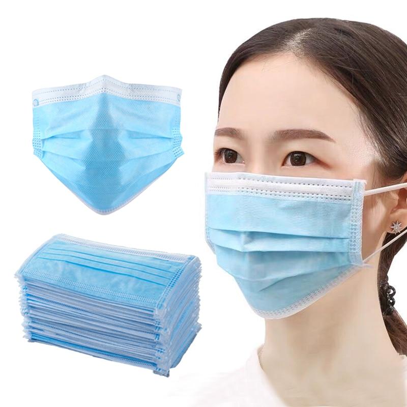 50pcs/lot Protective Mask Disposable Ear Loops Anti-dust Meltblown Cloth Cotton Masks For Women Men Face Mask