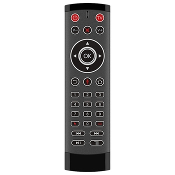 T1 Pro Voice Remote Control 2.4G Wireless Air Mouse Voice Control Gyro IR Remote with 2 IR-Learning for Android Tv Box