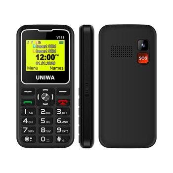 UNIWA V171 Cellphone 2G GSM MT6261D Dual SIM 1000mAh Phones 1.77'' 0.08MP Camera Torch MP3 Student Elderly  PK V808G
