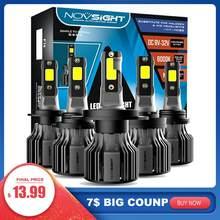 NOVSIGHT H4 LED H7 H11 H8 72W 10000LM Auto Auto Scheinwerfer Lampen H1 H3 HB3 HB4 9005 9006 H13 auto Zubehör 6500K LED Nebel Licht