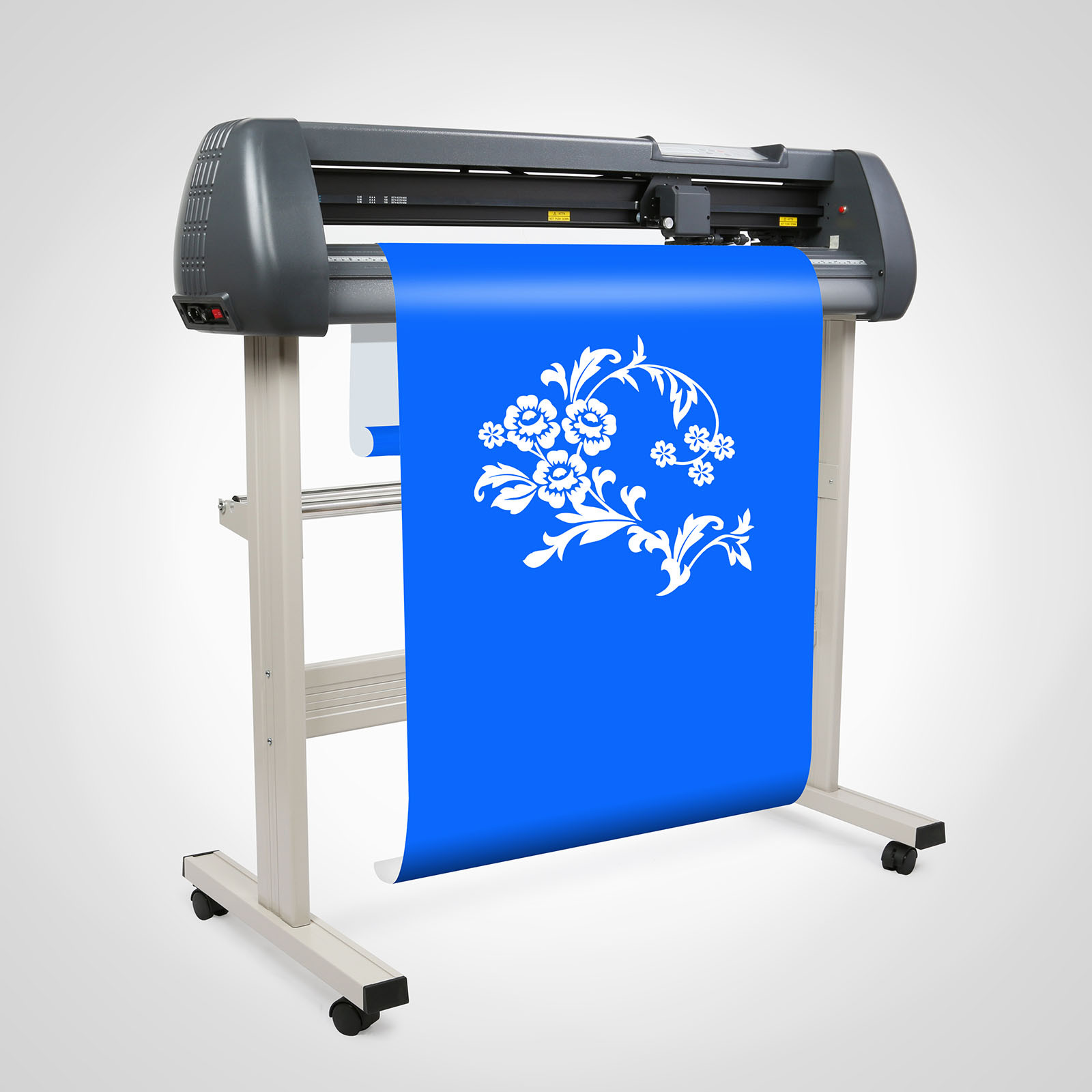Vinyl Cutter 34 Inch Vinyl Cutter Machine 870mm Paper Feed Vinyl Plotters with Floor Stand