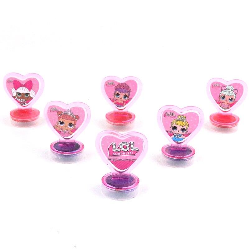 Куклы-сюрпризы LOL, 6 шт./компл., милые Мультяшные куклы из пластика с ручкой, печать с чернилами, безопасная игрушка «сделай сам» для детских п...