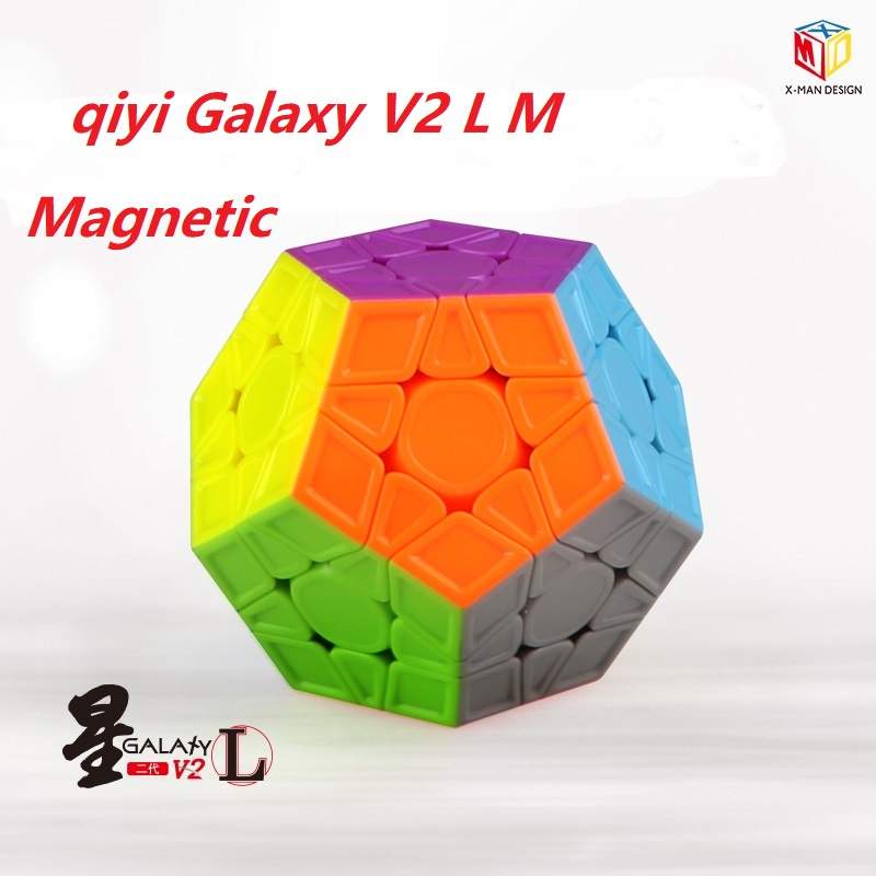 Qiyi XMD Mofangge X-Man Galaxy V2 L M Magnetic Magic Cube LM Speed Puzzle Toy Professional 12 Sides Dodecahedron Cubo Magico 3x3