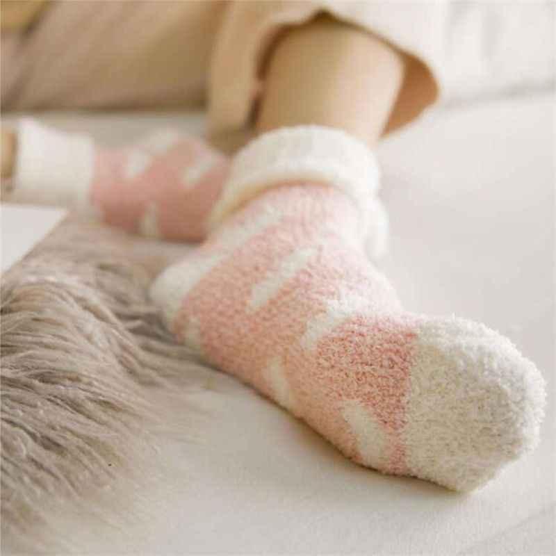 Новые продукты для осени и зимы, плюшевые носки, фланелевые, коралловые, флисовые, в горошек, зимние, утепленные, морозостойкие носки для сна