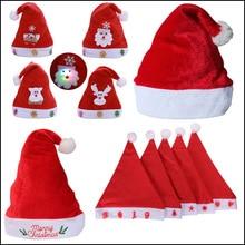 Мягкая Рождественская шапка из плюша вечерние шапки Санта-Клауса для детей и взрослых красное украшение Новогоднее украшение подарок для детей праздничные принадлежности для вечеринок