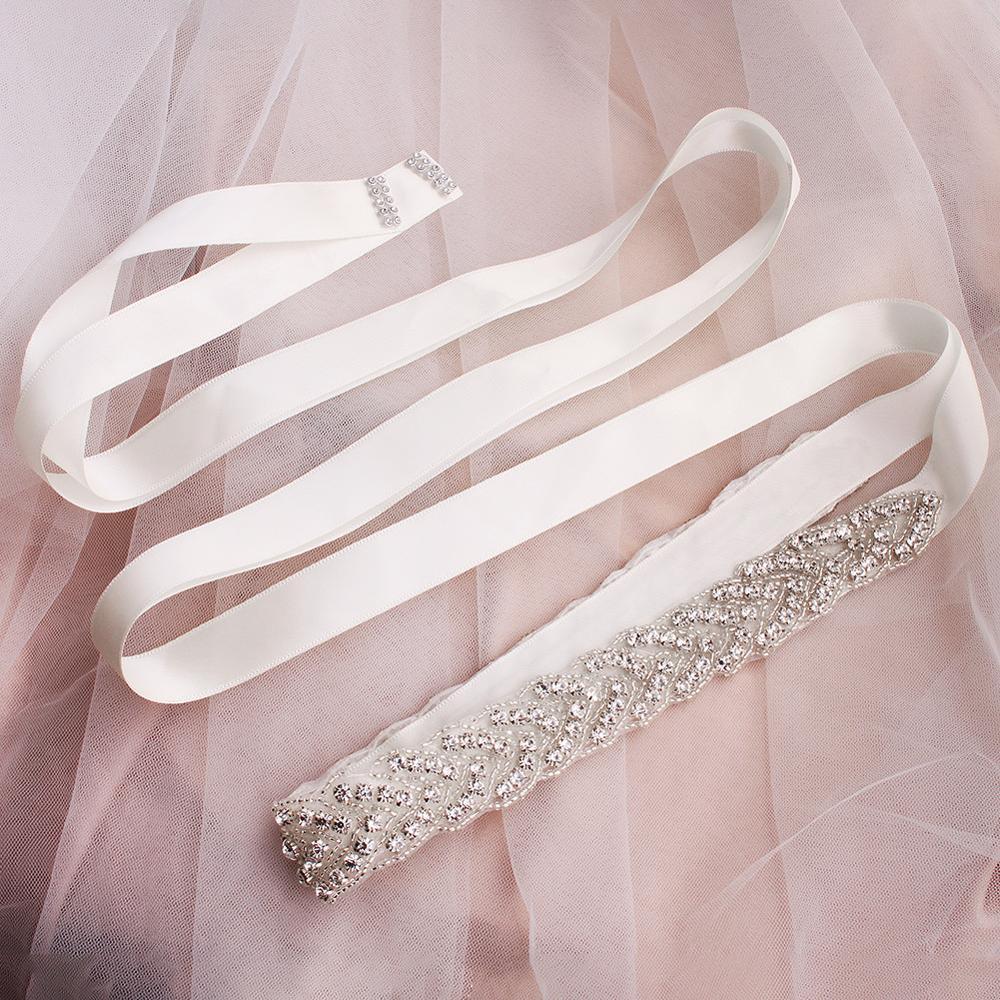 2019 Hot Silver Blush Wedding Bridal Sash Beads Crystal Bride Wedding Dress Upscale Rhinestone Waist Belt