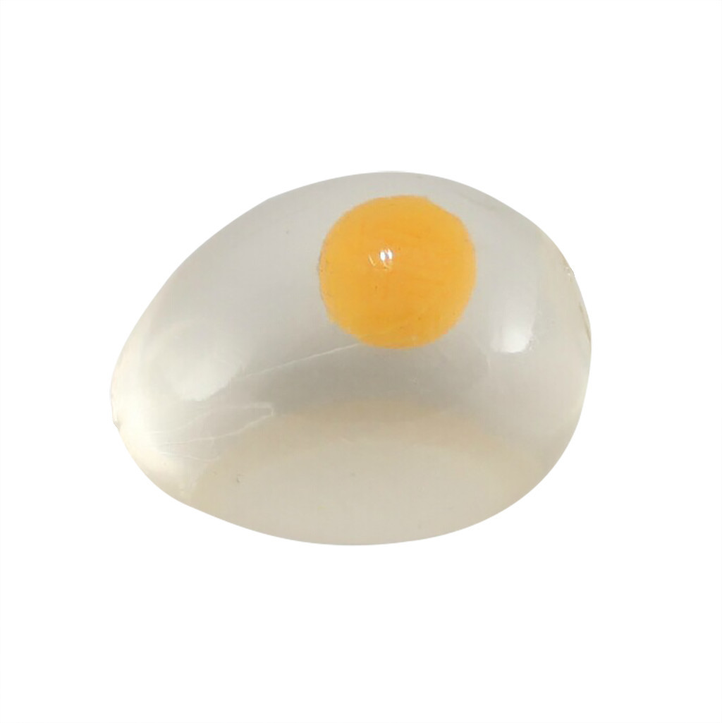 New Transparent Novelty Anti Stress Ball Fun Splat Egg Slow Rising Antistress Ball Toy Simulation Egg Slow Rising Fun Toy #A