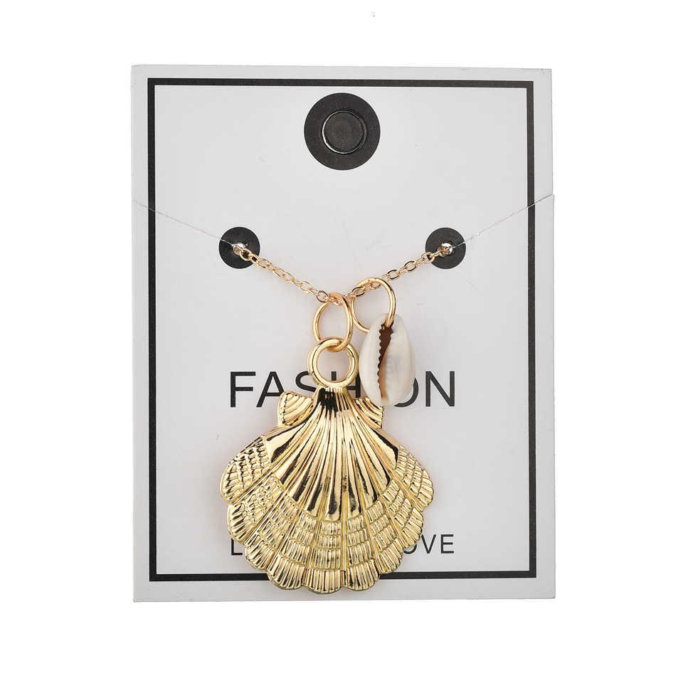 Colgante de collar de oro caliente en forma de concha colgante de joyería colgante de alta calidad accesorios femeninos niña madre regalo