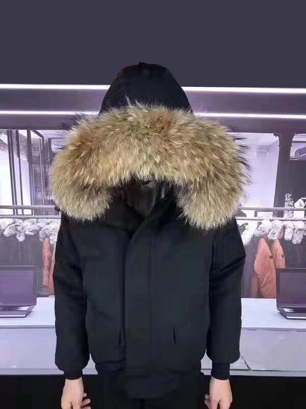 Down-Jacket Overcoat Fur-Collar Goose-Down Winter-40 Real Snown Men Man Outwear Big Degrees title=