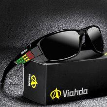 VIAHDA Brand Design nowe spolaryzowane okulary mężczyźni moda męskie okulary okulary podróż wędkarstwo óculos z pudełkiem