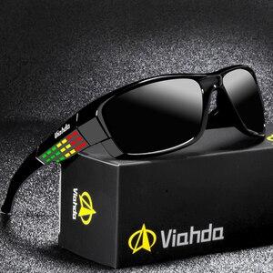 Image 1 - Viahda marca design novo polarizado óculos de sol dos homens moda masculina óculos de sol óculos de viagem pesca oculos com caixa
