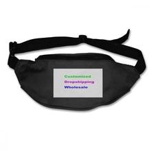 NOISYDESIGNS Image Customized Fanny Pack Men Women Black Runners Waist Bag Male Belt Bags Laser Chest Phone Pouch Rinoera Mujer